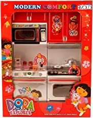 ICW ICW0057 Girl's Plastic Dora Play With Me Battery Operated Kitchen Play Set (Multicolour, ICW0057)