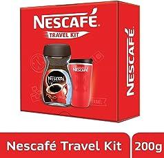 NESCAFÉ Travel Kit (Red) - NESCAFÉ Classic Coffee, 200g with Travel Mug (Limited Edition)