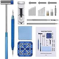 Togli Maglie Orologio, Jorest 38pcs Kit Riparazione Orologi, per Sostituire e Perforare e Regolare il Cinturino Orologio…