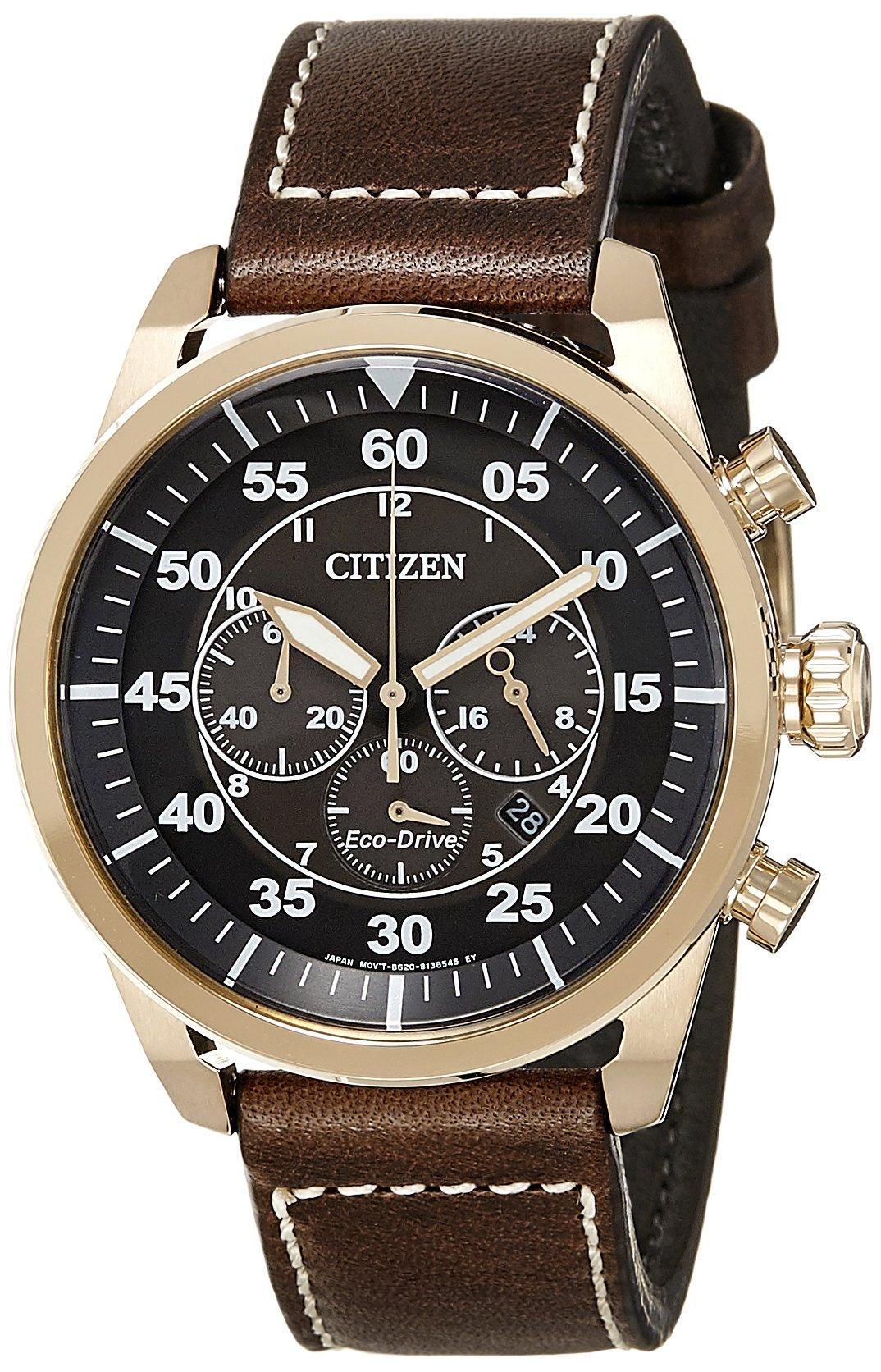 Citizen de Hombre Reloj de Pulsera Cronógrafo Cuarzo Piel ca4213–00E