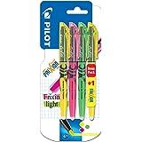 Pilot 4136B4 - Frixion Textmarker Promotion 4 Stück gelb, grün, pink und gratis gelb