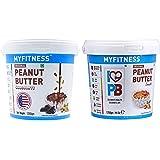 I LOVE PB MYFITNESS Chocolate Peanut Butter 1250g + MYFITNESS Peanut Butter Smooth 1250g
