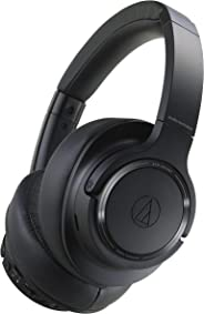 Audio Technica ATH-SR50BTBK Sound Reality Bluetooth Wireless Over-Ear Headphones High-Resolution Audio Foldable with Microph