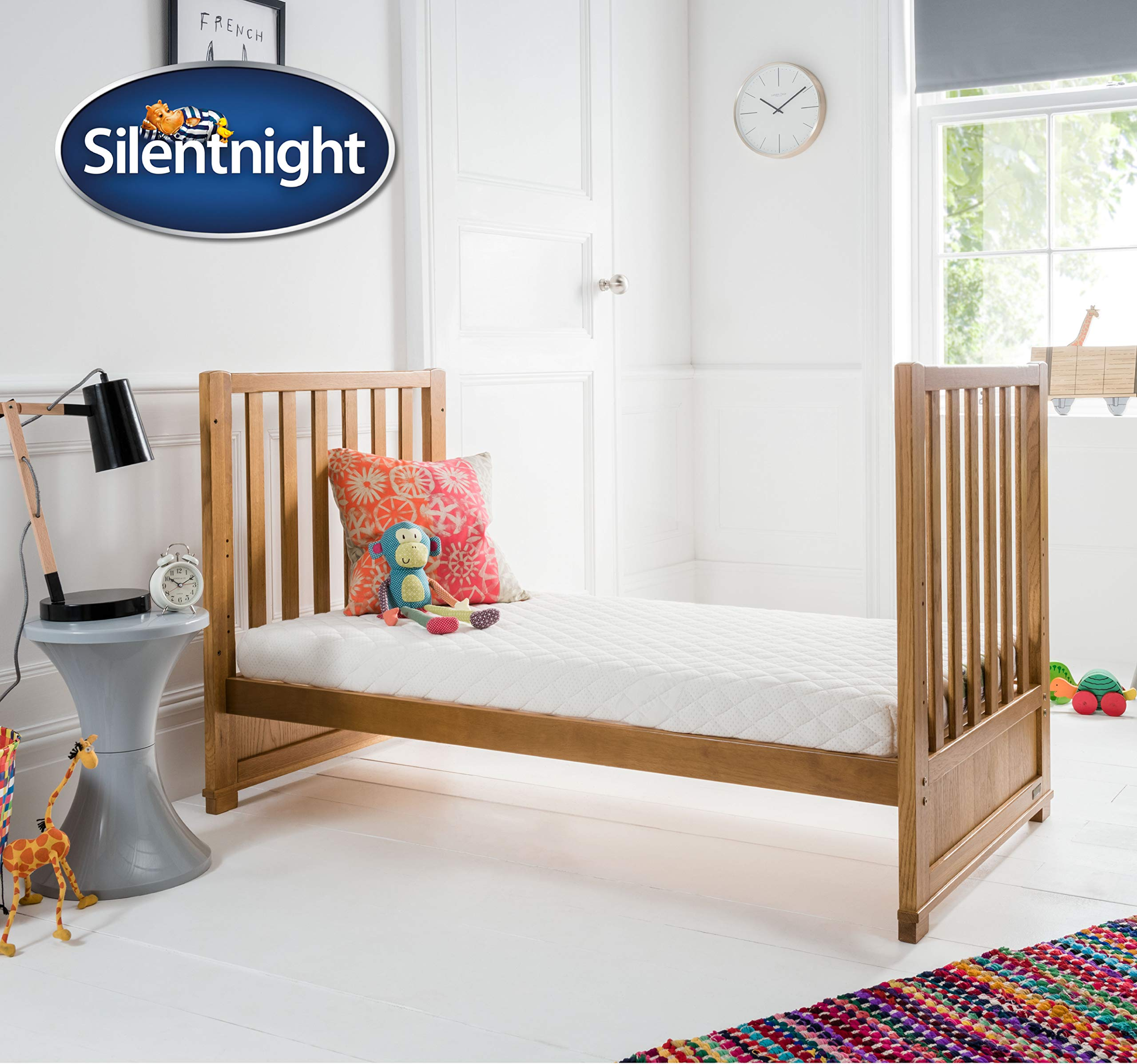 Cot Bed Sheets Fitted 2-Pack 120x60x15 cm to 140x70x15 cm Momcozy Cotton Crib Mattress Sheet Mattress Protector for Baby Toddler Fit Mother Nurture