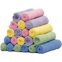 S Kumars Cotton Face Towel 300 GSM (Set of 20, Multicolour)