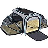 OMORC Cat Carrier, Dual-sided Expandable Pet Carrier Dog Carrier with Dual Side Inner Pad and Breathable Mesh, Portable…