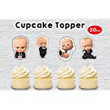 WoW Party Studio Boss Baby Theme Birthday Party Cup Cake Toppers (20 Pcs)