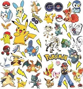 Adesivi Pokemon   Pikachu Murali Muro Decorazione Parete ...
