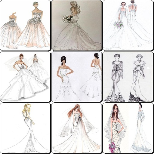 Apps For Designing Clothes   Wedding Dress Sketches Designs 2017 Amazon De Apps Fur Android