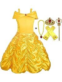 Alead Disfraz de Princesa Belle Vestido ...