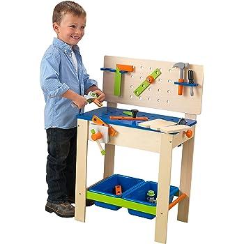 caisse outils compl te en bois pour enfant avec 12 l ments jeux et jouets. Black Bedroom Furniture Sets. Home Design Ideas