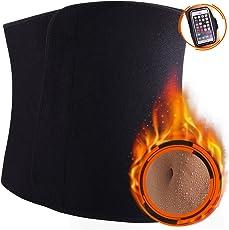 Win.Max Fitnessgürtel, Fitness Gürtel, Schwitzgürtel zur Fettverbrennung, Verstellbarer Neopren Sauna Bauchweggürtel, Gewichthebergürtel Schweiß Ab Gürtel Taillen