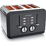 Arendo - automatische broodrooster - 4 plakken - roestvrij staal - tot vier boterhammen en toastplakken - instelbare bruining