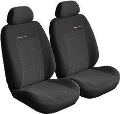 Sitzbezüge Auto Vordersitze Universal Autositzbezüge Schonbezüge Vorne Schwarz-Grau mit Airbag System - Elegance P1