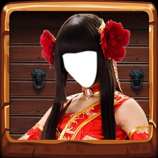 Chinesischer Kleider-Foto-Editor -