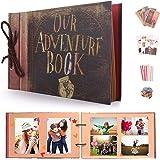 EKKONG Our Adventure Book Bricolage Photos Albums, Vintage Scrapbook Photo Album pour Cadeau d'anniversaire, Anniversaire de