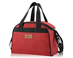 Newox - Homespon Large Lunch Bag Große Taschen für Bento Box für Picknick Schule Büroreisen (Rot)