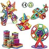 nicknack Mni Bloques magneticos magneticos, 116 Piezas Juguetes construcciones magneticas para Niños, Bloques Magnéticos 3D J