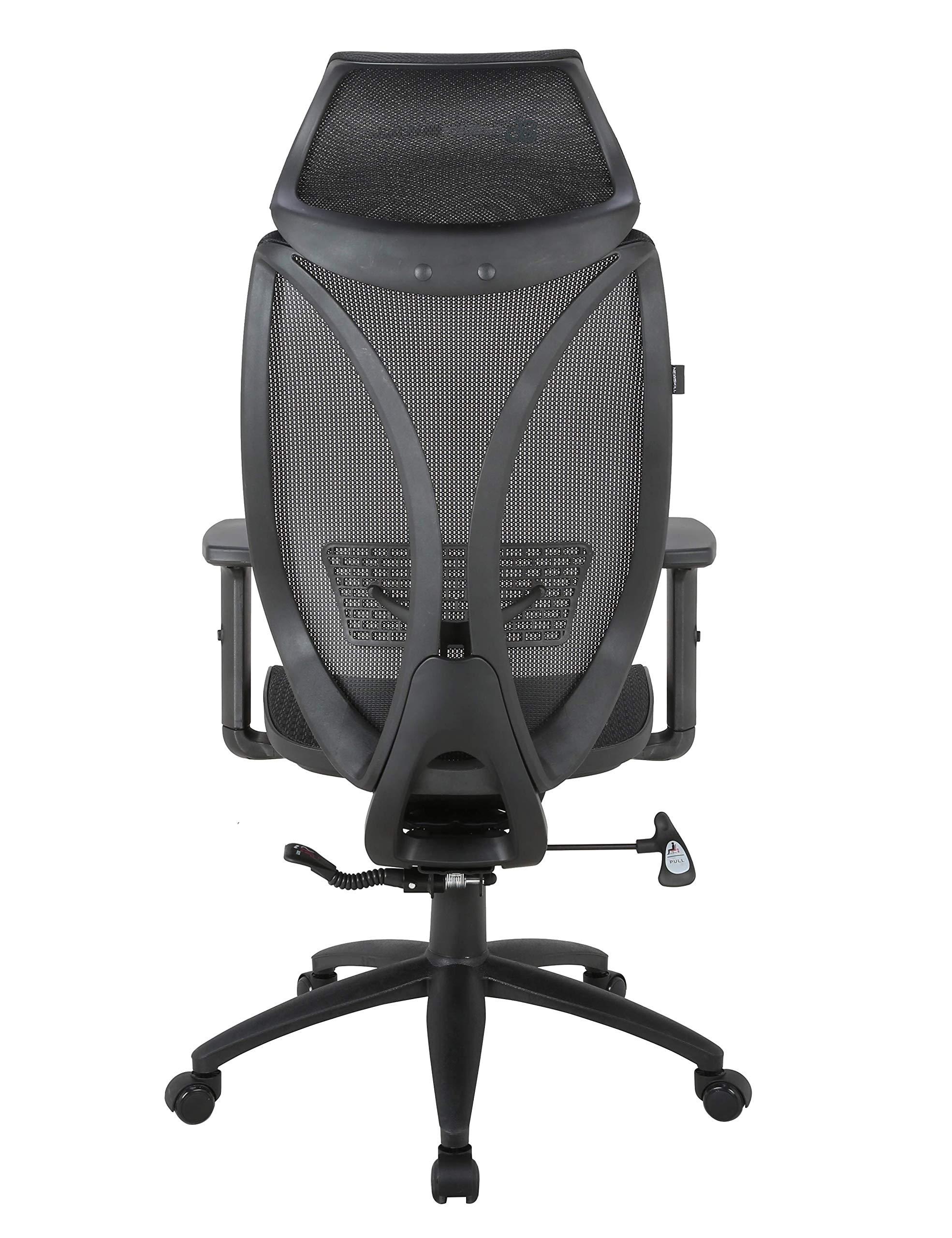 Newskill Aryon – Silla Gaming de Oficina Fabricada en Material mallado (reposacabezas e inclinación de la Espalda Ajustable, reposabrazos Ajustables en Altura) de Color Negro