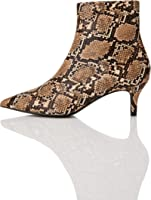 Marque Amazon - find. Kitten Heel Point Toe Animal, botines femme