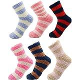 CityComfort Calcetines Calentitos Mujer Y Niños | Pack De Calcetines Mujer | Calcetines Con Rayas De Colores | Calcetín De In