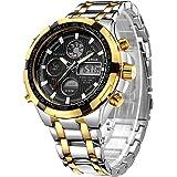 Orologi da uomo di moda di lusso in acciaio inossidabile cronografo sportivo pesante Data impermeabile multifunzione analogic