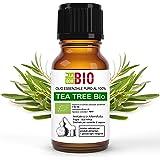 OLIO ESSENZIALE TEA TREE (TEA TREE OIL - ALBERO DEL TE') BIO 10ml - 100% PURO E NATURALE - USO ALIMENTARE, COSMETICO E PER DI