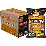 Lay's Strong Chips Hot Chicken Wings, Doos 9 stuks x 150 g