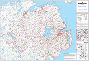 Irlanda Del Nord Cartina Geografica.Mappa Del Settore Dei Codici Postali Dell Irlanda Del Nord 36 Carta Laminata Da Parete Amazon It Cancelleria E Prodotti Per Ufficio