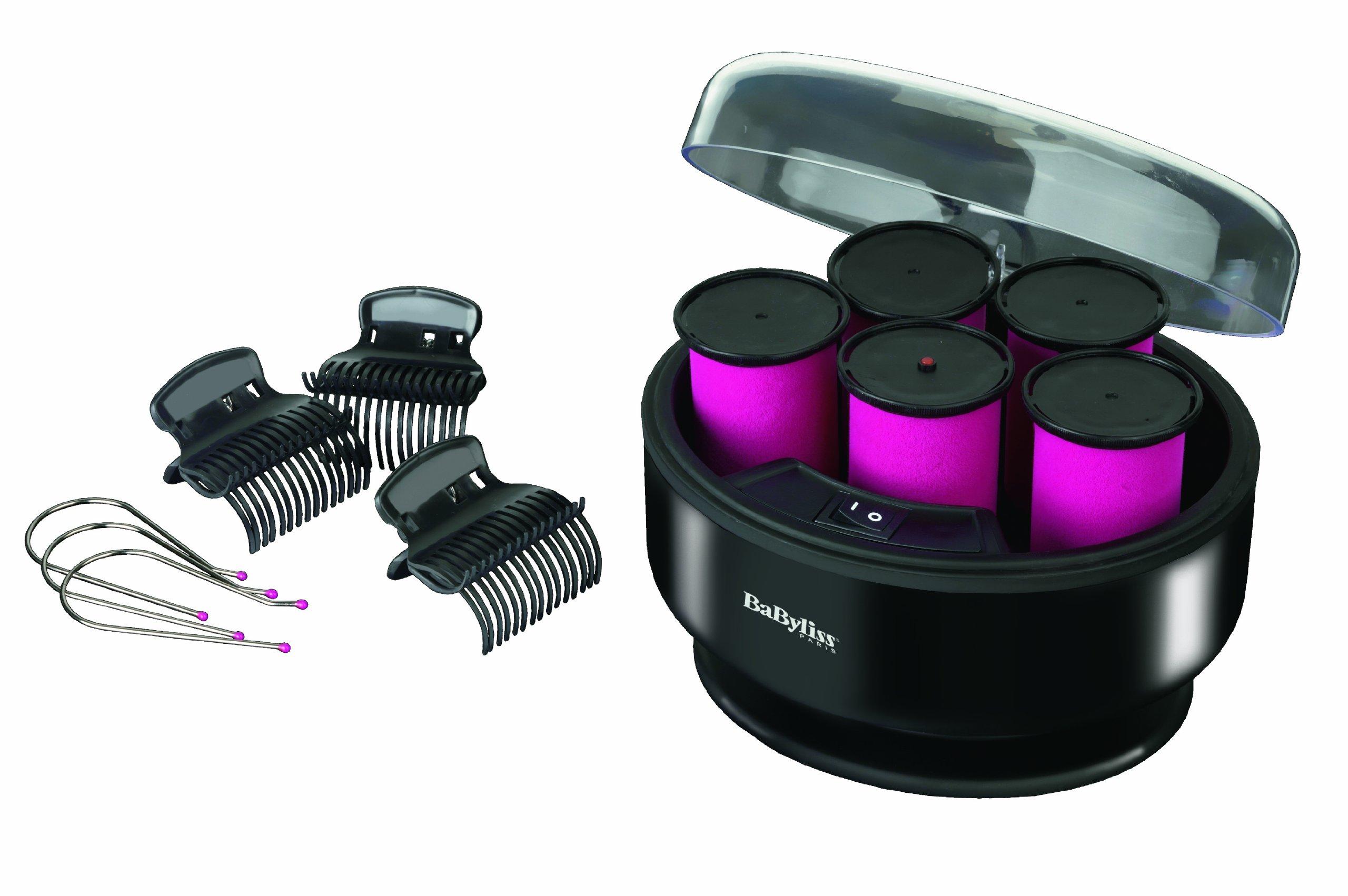 Babyliss 3060E Heated Hair Rollers Volumeundcurl 3038ESCHWARZ/Pink - 81FIoWoMJmL - Babyliss 3060E Heated Hair Rollers Volumeundcurl 3038ESCHWARZ/Pink