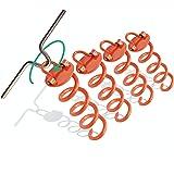 4 x grondankers grondankers voor trampoline, schommel, paviljoen | massieve tentharingen in signaalkleur van 1 cm Ø staal + i