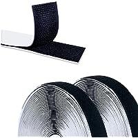Qiaonato Klettband Selbstklebend, 10M Selbstklebendes Doppelseitig Klebende mit Klettverschluss 20mm Breit Klebepad…