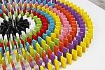 Dafa 100Pcs 12 Colors Standard Wooden Games Dominos Set Kids Racing Toy LYSB01I55T4YO-TOYS Blocks