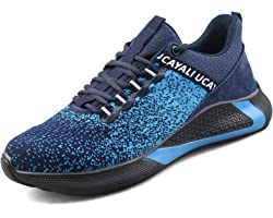 UCAYALI Men's Safety Work Shoes Steel Toe Cap Trainers Puncture Proof Lightweight Breathable Sneakers