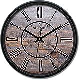 Amazon Brand - Solimo 12-inch Wall Clock - Star Gazer (Silent Movement)
