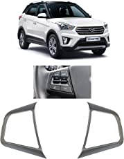 AutoPop Chrome Steering Control Surrounds for Hyundai Creta - 2 Pieces