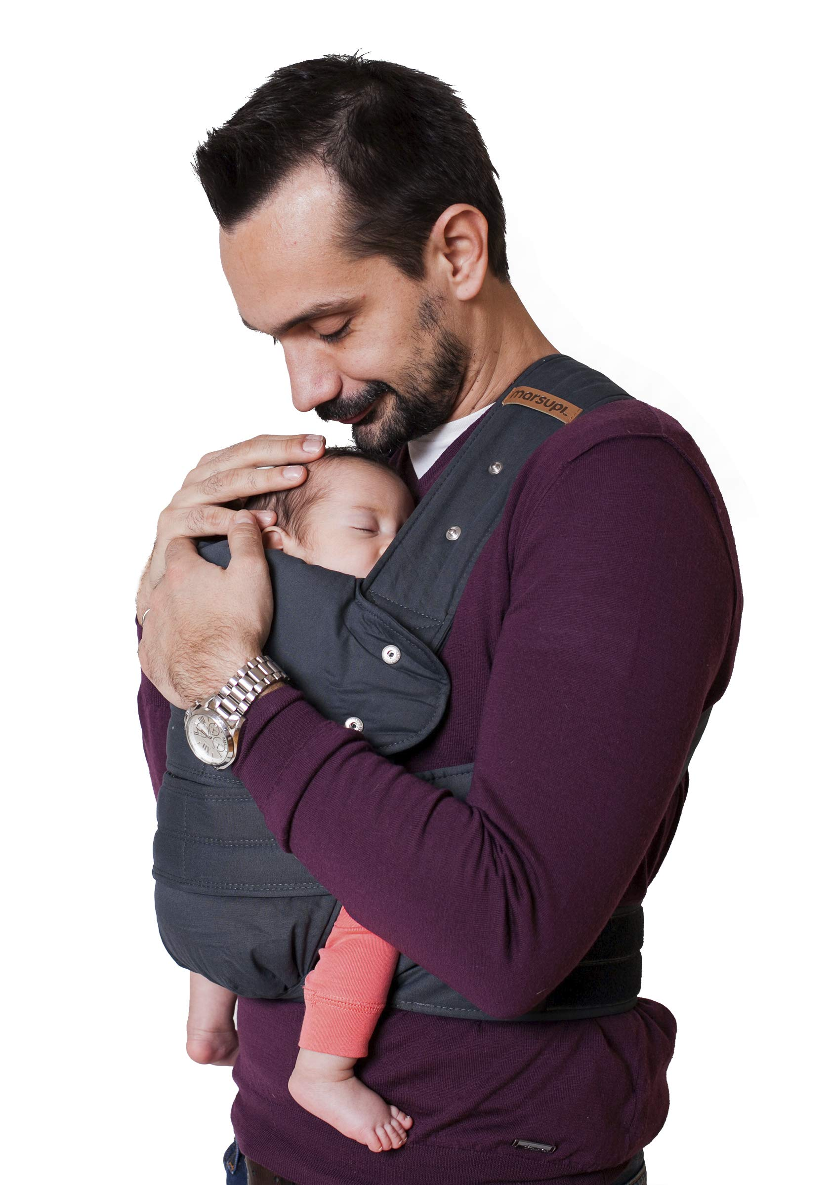 marsupi Baby and Child Carrier, Version 2.0 Classic (Grey/Gray, S/M)