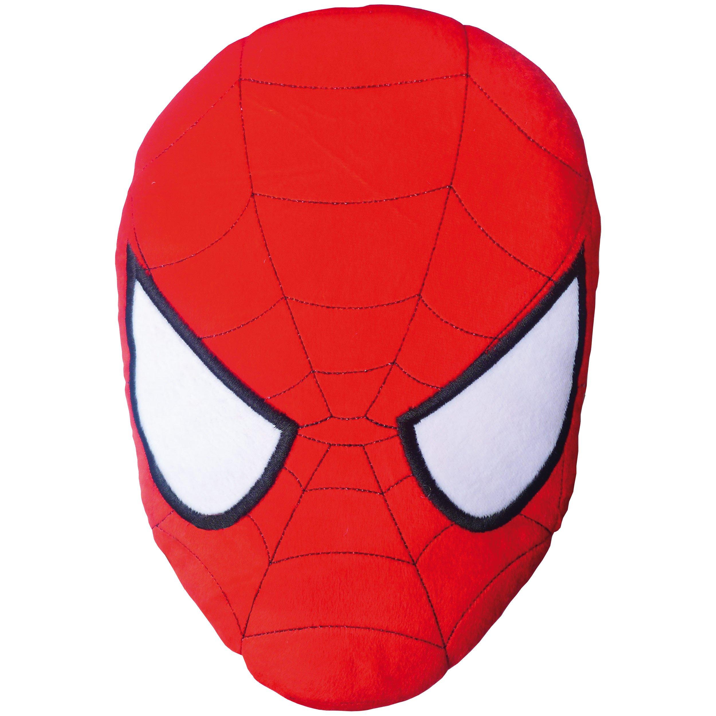 Spiderman 042383 3D, Cuscino, motivo: Maschera di Spiderman, in poliestere, 38 x 36 cm, Rosso (Rot)