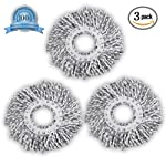 Smile Mom Spin Mop Head Microfiber Refill for Floor Cleaning White & Grey (130 Gram, Pack of 3)