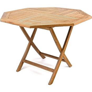 Amazon De Gartentisch Holz Teak Rund O 80 Cm