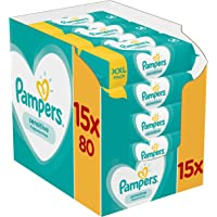 Pampers Sensitive Baby Wipes 15x80 = 1200 Wipes 81687213