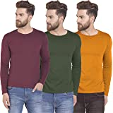 RSO Outfits Men's Regular Fit T-Shirts (Pack of 3)