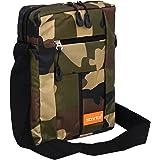 Storite Stylish Nylon Sling Cross Body Travel Office Business Messenger Bag (17 x 6.5 x 25 cm) (Army Print)