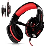 [K].dandee Cuffie Gaming per Pc Giochi Ps4 Console Ps4 PRO Playstation 4 E 5 Xbox One X Cuffie da Gaming Over Ear Headset con