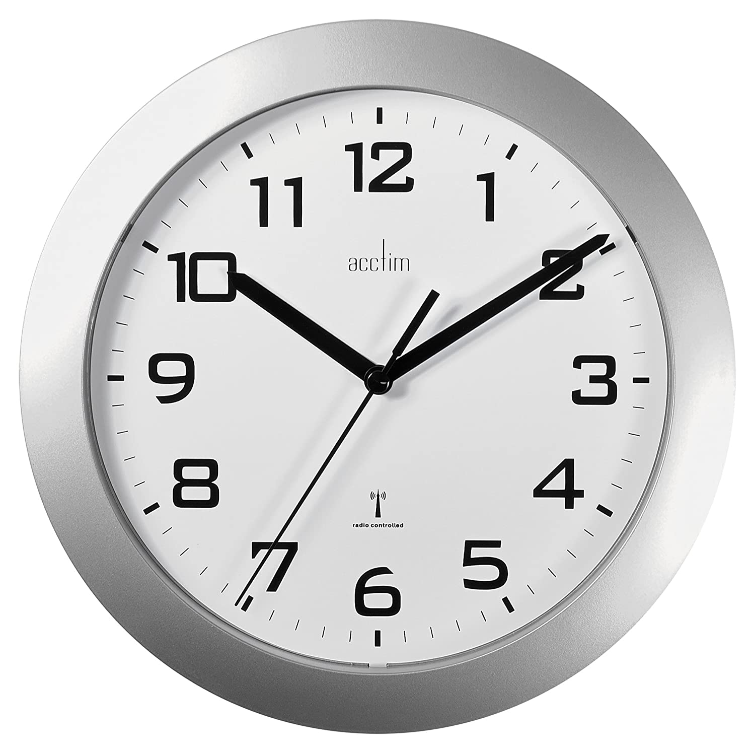 Acctim 74367 peron radio controlled wall clock silver amazon acctim 74367 peron radio controlled wall clock silver amazon kitchen home amipublicfo Image collections