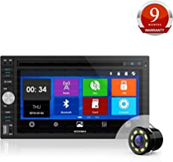 Woodman Doubledin WM-8080 with FM/Bluetooth/USB (720 Pixels) Car Stereo (Double Din) with Car LED Rear View Camera