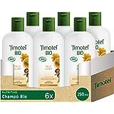 Timotei BIO Champú Nutritivo para Cabello seco con extracto de miel y jojoba 98% ingredientes de origen natural, 250mlx6