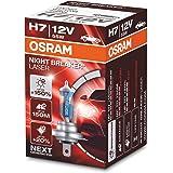 OSRAM NIGHT BREAKER LASER H7, Gen 2, +150% más luz, bombilla H7 para faros delanteros, 64210NL, 12V, estuche plegable (1 lámp