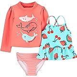 Simple Joys by Carter's Bebé Niñas conjunto de natación, Pack de 3