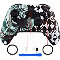eXtremeRate Joker Patterned Faceplate Cover, Soft Touch Front Housing Shell Case Replacement Kit for Xbox One Elite…